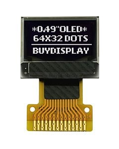 0.49 OLED Display Module 64x32 Pixel,SSD1306,I2C,White on Black