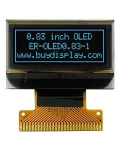 0.83 OLED Display Module SPI,SSD1306 Controller,Blue on Black,96x39