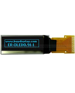 0.91 inch I2C IIC Serial 128x32 Blue OLED Display Module,SSD1306,2.8V