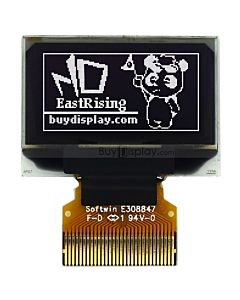 128x64 OLED I2C 0.96 Display,White Color,Connector FPC,SSD1306