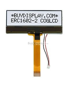 1602 COG LCD Module 16x2 Display Character,NT7603,Black on White