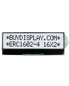 16x2 LCD 3.3v Character COG Display Module,Black on White