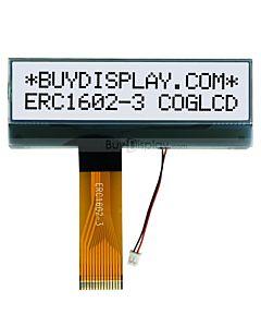 16x2 LCD Matrix character COG module, white bottom black word, nt7603, Black White.