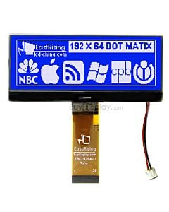 Blue 192x64 Dot Matrix Display Graphic LCD Module Interface