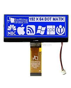 Blue 192x64 Dot Matrix Display Graphic LCD Module Interface