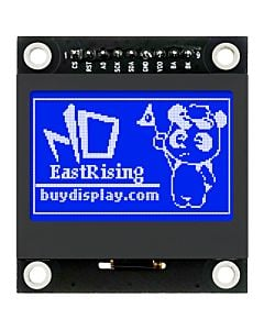 1.54 inch Blue 128x64 Graphic LCD Display Module,SPI for Arduino