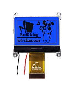 1.8 inch SPI Serial 128x64 COG LCD Module Display,Black on Blue