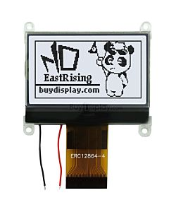 1.8 inch SPI Serial GLCD 128x64 LCD Module Display ST7565,Black on White