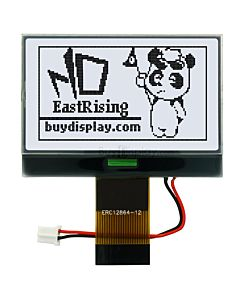 2.1 inch COG Serial SPI 128x64 graphic lcd display module arduino,Black on White