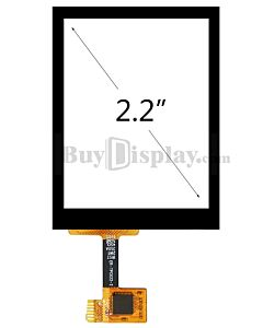 2.2 inch Capacitive Touch Panel Screen with Controller FT6236U