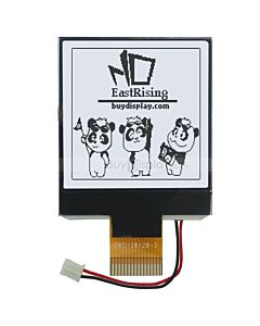 2.2 inch Serial I2C COG LCD 128x128 Graphic Display Module,Black on White