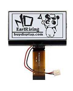 2.5 inch 132x65 Arduino LCD Display Module Serial SPI,Black on White