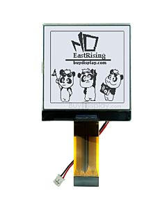 2.5 inch Graphic COG 128x128 LCD Display Modules,ST7541,Black on White
