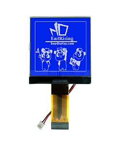 2.5 inch Module 128x128 Display MCU LCD Controller ST7541,White on Blue