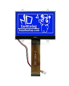 2.6 inch 128x64 COG LCD Module display,serial spi,white Blue