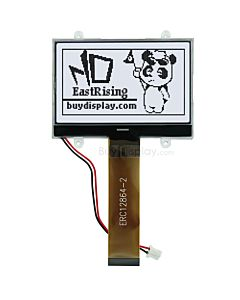 2.6 inch SPI 128x64 NT7538 Graphic Serial LCD, Controller,Black on White