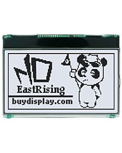 2.8 inch 128x64 Graphic Module Serial Display SPI LCD,Black on White