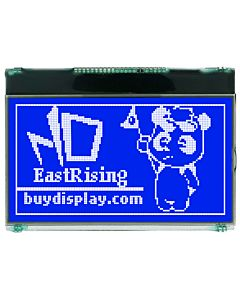 2.8 inch 128x64 Graphical Display Serial Module SPI LCD,White on Blue