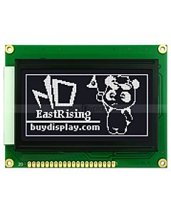"2.9""128x64 Graphical LCD Display Module KS0108 ,White on Black"