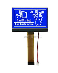 2.9 inch cog display 128x64 blue lcd module arduino,st7565p,White on Blue