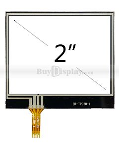 2 inch 4-wire resistive touch panel screen