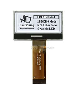 2 inch lcd 160x64 graphic module serial spi display,st7528,Black on White