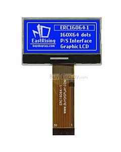 2 inch LCD Display160x64 Serial SPI Graphic Module ,ST7528,White on Blue