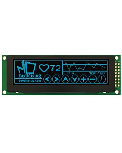 OLED 3.2 inch Displays Module Companies with Driver,Circuit,Blue on Black