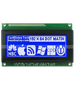 3.3 inch Display 192x64 19264 LCD Monochrome Module,White on Blue