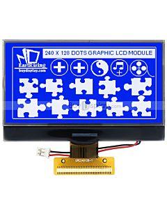 3.3 inch Graphic 240x128 Display  LCD Arduino Module,UC1698,White on Blue