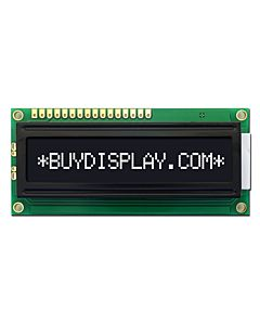 3.3V-5V 1601 1x16 Character LCD Module Display,White on Black