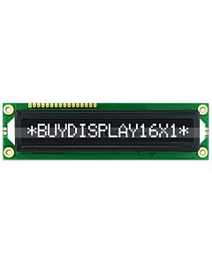 3.3V-5V Character Module 16x1 LCD Display,White on Black,High Contrast