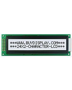 3.3V-5V Display 24x2 Character LCD Module,KS0066,Black on White