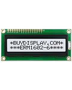 3.3V-5V LCD Module 16x2 1602 Character Display,Black on White