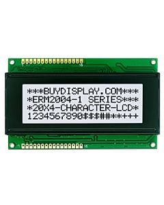 3.3V/5V 20x4 Character LCD Display Module,Black on White,High Contrast