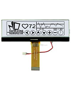 3.8 inch Graphic 256x64 LCD Display Module,UC1698,Black on White