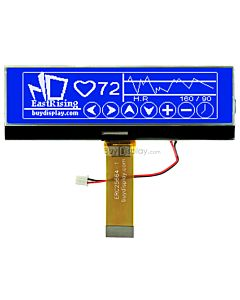 3.8 inch Graphic LCD 256x64 COG Display Module,UC1698,White on Blue