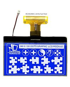 3 inch LCD Backlight Module Display 240x120 Graphic  Serial,Blue on White