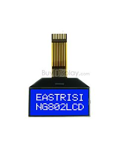 COG Display Serial 8x2 LCD Blue Module,Datasheet PDF,White Backlight