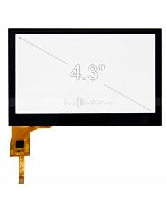 4.3 inch Capacitive Touch Panel wiith Controller FT5206 for 480x272 Dots