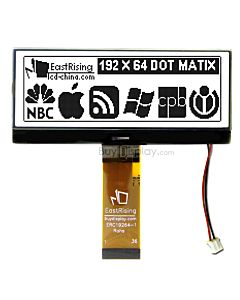 4.3 inch COG White 192x64 Display Graphic LCDs Module,IST3020