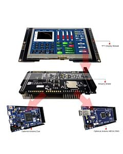 4.3 inch TFT LCD Arduino Shield Tutorial,SSD1963 for Mega Due