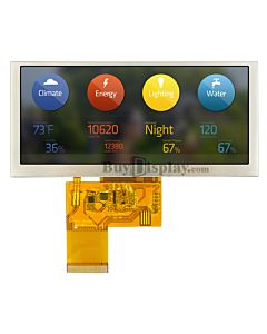 4.6 inch 800x320 TFT Bar LCD Display for  IoT with optional Touch Panel