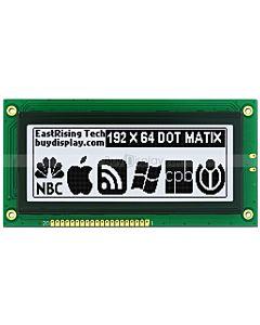 4 inch 192x64 LCD Module Graphic Display KS0107,KS0108,Black on White