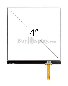 4 inch 4-Wire Resistive Touch Screen Panel