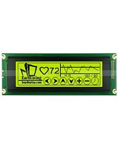 5.2 inch 240x64 T6963C LCD 24064 Display Graphic Module,Black on YG