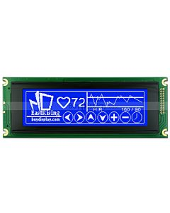 5.2 inch Arduino Display 240x64 T6963 LCD Controller Module,White on Blue