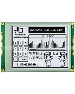 5.7 inch 320x240 Graphic LCD Module -China,Touch Panel,Black on White