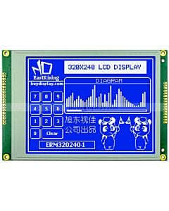 5.7 inch 320x240 Graphic LCD Module arduino,Touch Screen,White on Blue