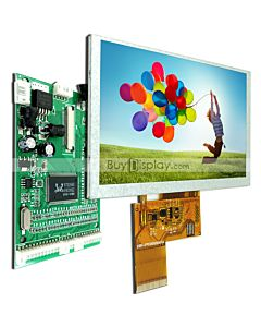 5;5.0 TFT LCD Display 800x480 with VGA,Dual Video Signal Driver Board